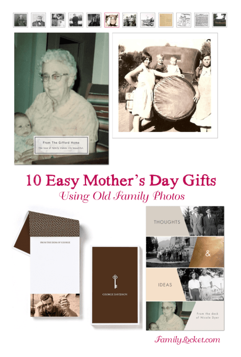 10 easy mothers day gifts using old family photos