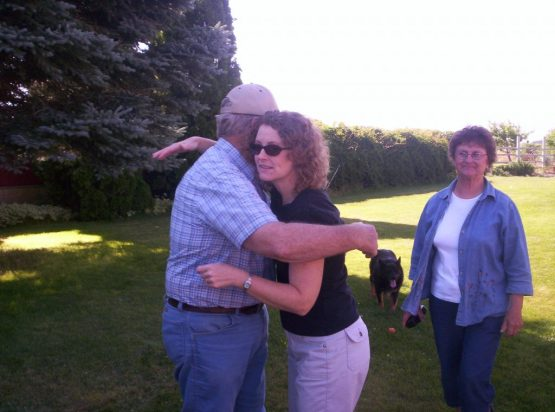 Diana hugging Bobby Gene