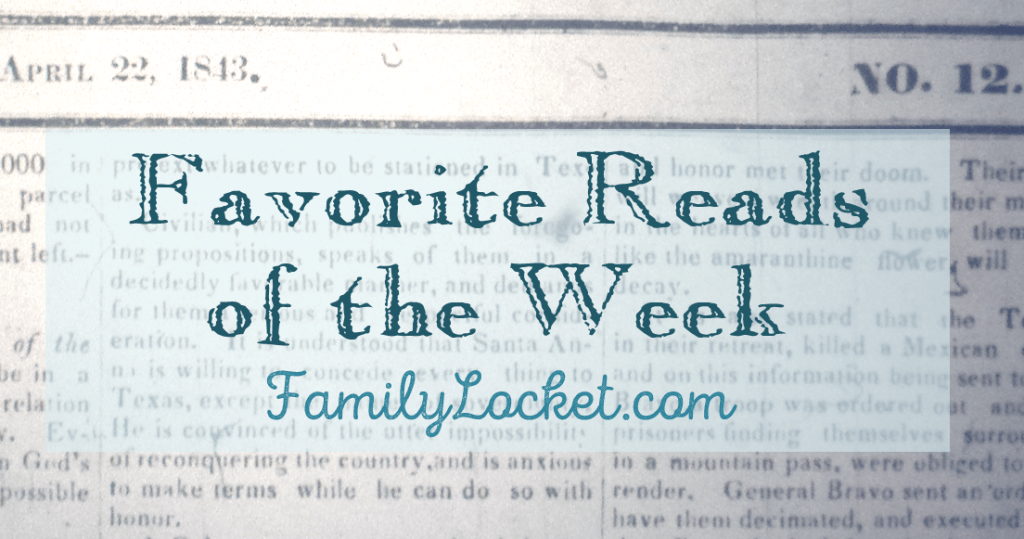 Favorite Reads of the Week: 23 April 2016 – Mother's day gift guides, Grandma's aprons, Ancestor celebrity look-alikes