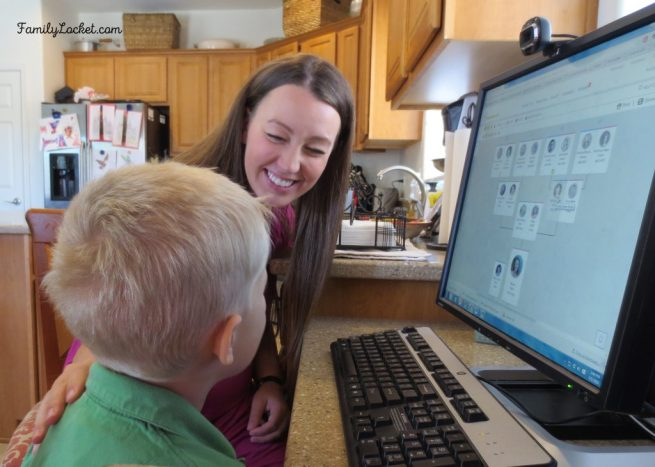nicole and jacob having fun with familysearch