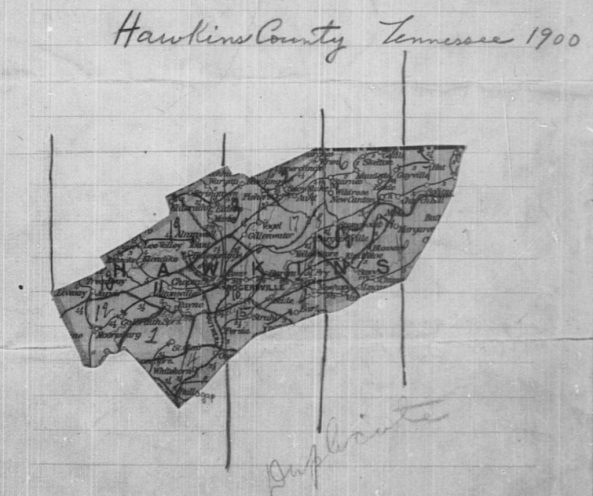 hawkins county Tennessee 1900 enumeration district map