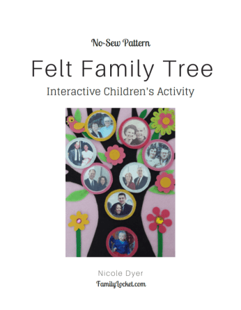 felt family tree pattern
