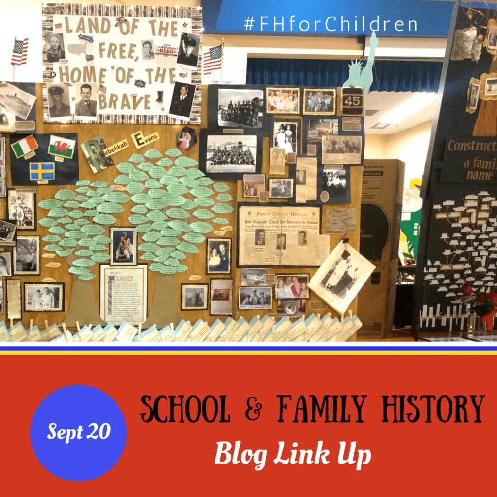 School and Family History – September Blog Link Up