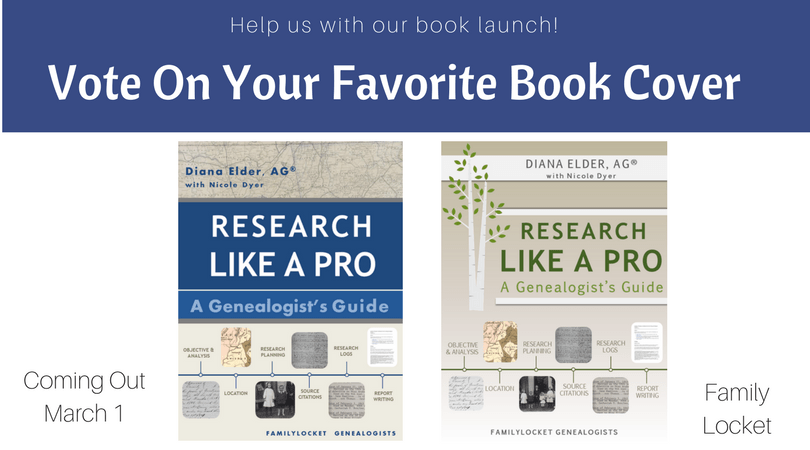 Announcing our Book Launch! Research Like a Pro: A Genealogist's Guide