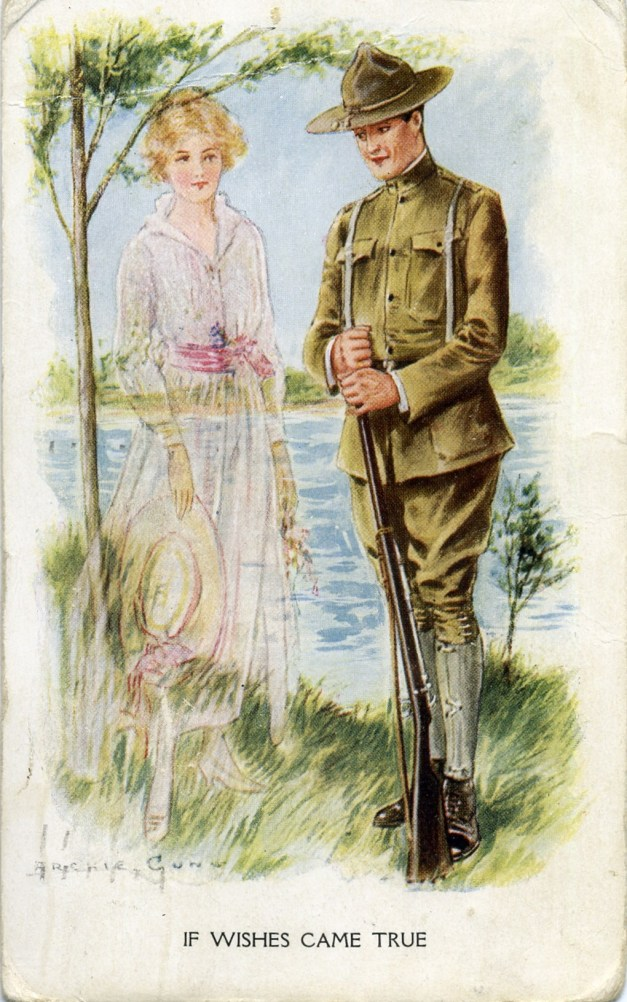 1918 Oct. 25 Postcard from Loyal Hale to wife Lila