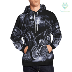 Skeleton on Motorcycle with Scythe men hoodie Men's All Over Print Hoodie (USA Size) (Model H13) %tag familyloves.com