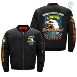 familyloves.com 101ST AIRBORNE, SCREAMING EAGLES - OVER PRINT JACKET %tag