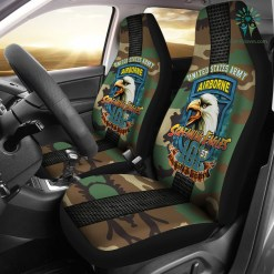 familyloves.com 101st Airborne, Screaming Eagles Car Seat Covers %tag