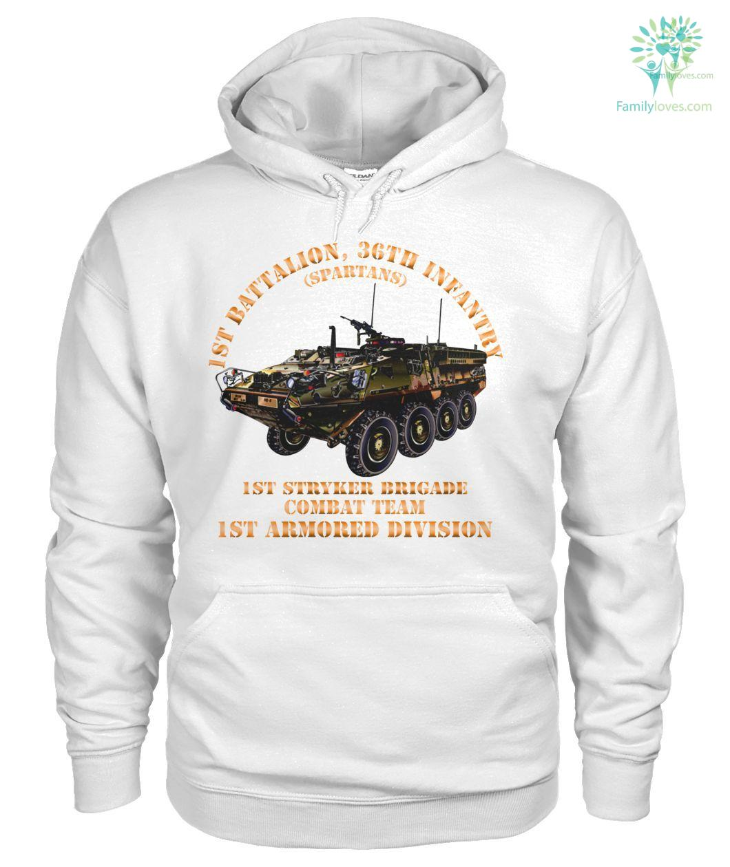 Mens 1st Armored Brigade Combat Team 1st Inf Div Hooded Fleece Sweatshirt