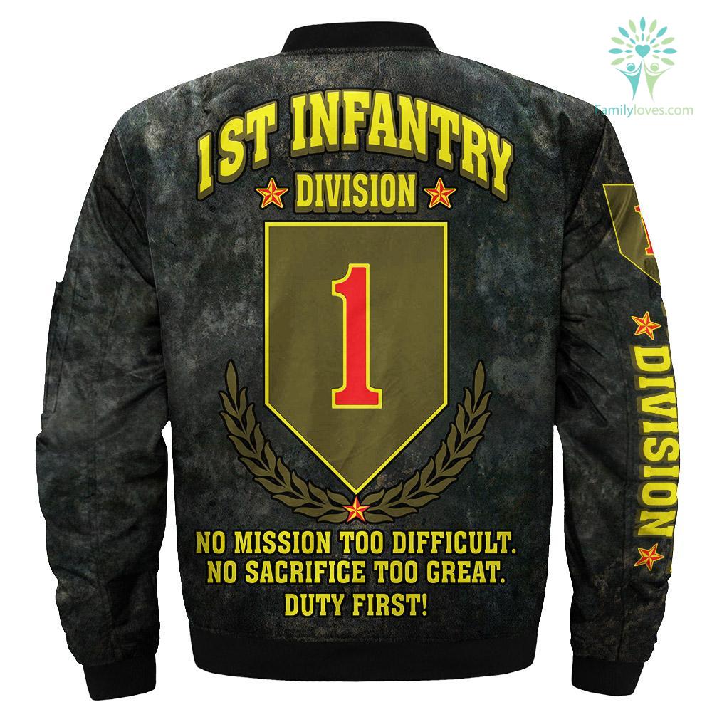 1st Infantry Division over print jacket %tag familyloves.com