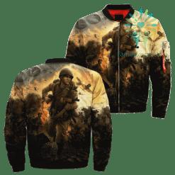 familyloves.com Man Of War 2 Over Print Jacket %tag