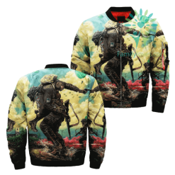 Being a Paratrooper Over Print Jacket %tag familyloves.com