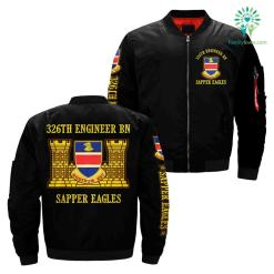 326th engineer bn sapper eagles over print jacket %tag familyloves.com