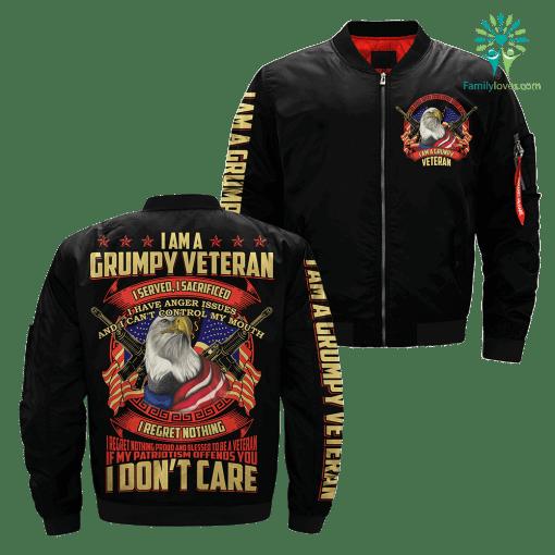 I Am A Grumpy Veteran I Served, I Sacrificed Over Print Jacket %tag familyloves.com