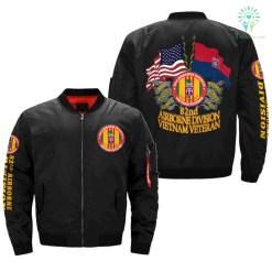 familyloves.com 82nd Airborne Division Vietnam Veteran OVER PRINT JACKET %tag