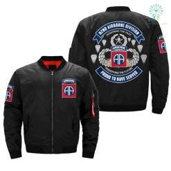 82ND AIRBORNE -HONOR THE PAST PRESERVING THE FUTURE - OVER PRINT JACKET %tag familyloves.com