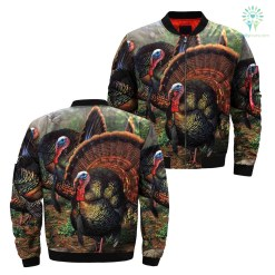 familyloves.com 3D All Over Printed Turkey Hunting camo Jacket %tag