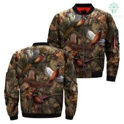 3D All Over Print Heasant Hunting Jacket %tag familyloves.com
