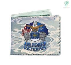 Air Force veteran Men's Wallet Default Title %tag familyloves.com