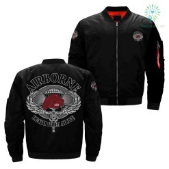 familyloves.com Airborne death from above over print jacket %tag