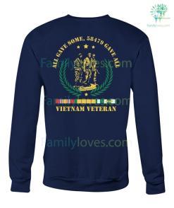 ALL GAVE SOME, 58479 GAVE ALL, Vietnam Veterans of America, Crew Neck Sweatshirt %tag familyloves.com
