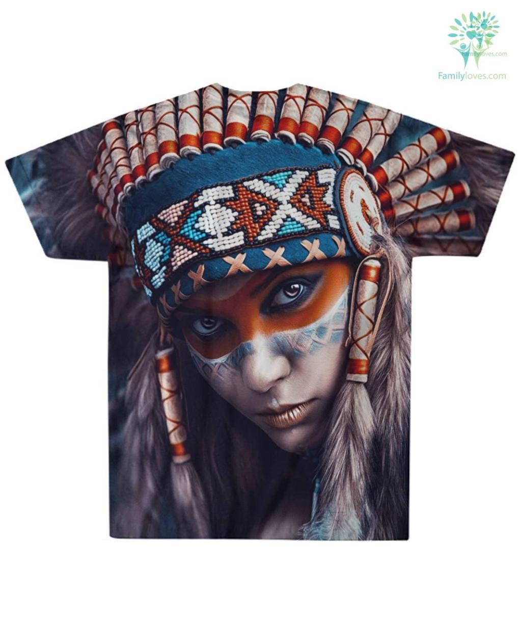 familyloves.com AMERICAN NATIVE LIMITED EDITION OVER PRINT T-SHIRT %tag