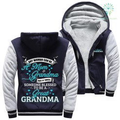 familyloves.com Any woman can be a mom grandma... woman hoodie %tag