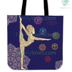 Asana Yoga Tote Bags %tag familyloves.com