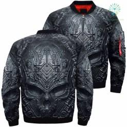 Darkness Skull Over Print Jacket %tag familyloves.com