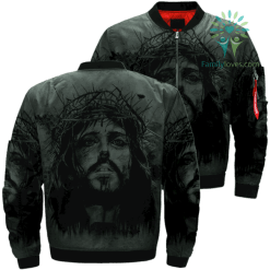 JESUS ALL FOR YOU Over Print Jacket %tag familyloves.com