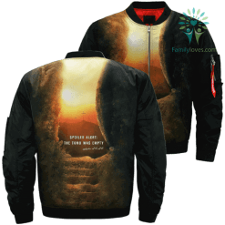 JESUS SPOILER ALERT EMPTY TOMB 3D Over Print Jacket %tag familyloves.com