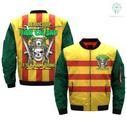 familyloves.com BEAUCOUP DIEN CAI DAU IT'S NAM THING over print Bomber jacket v2.0 %tag