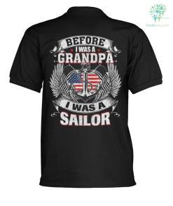 Before i was a grandpa i was a sailor? polo shirt %tag familyloves.com