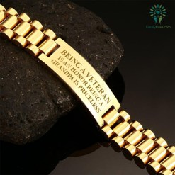Being a veteran is an honor being a grandpa is priceless-men's bracelets %tag familyloves.com