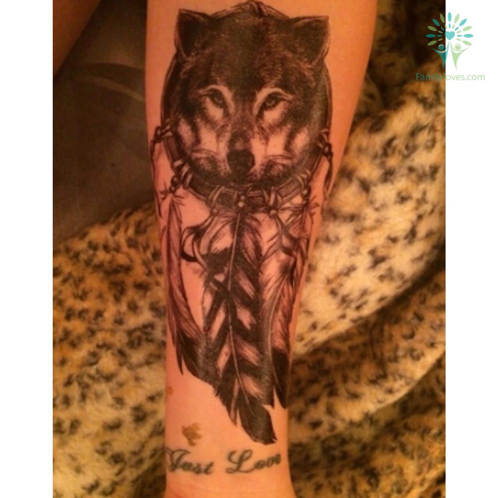 Black Women Men 3d Body Art Wolf Dreamcatcher Native American 14 8