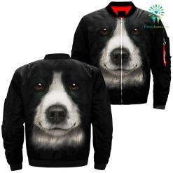 Border Dog over print jacket %tag familyloves.com