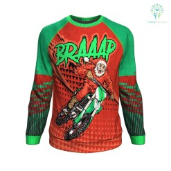 BRAAAP ugly christmas sweater %tag familyloves.com