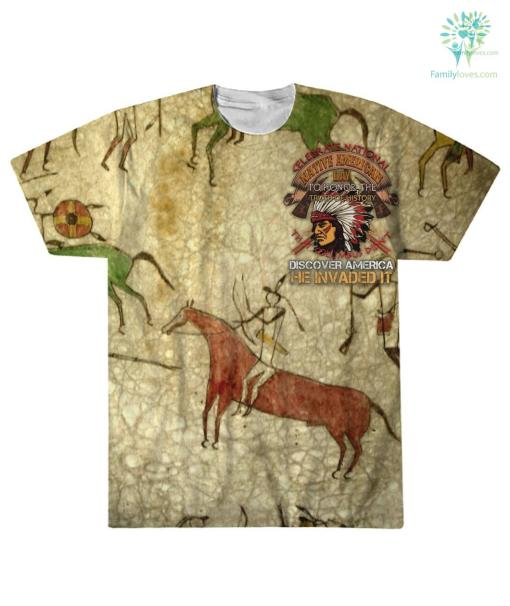 CELEBRATE NATIONAL NATIVE AMERICAN DAY... OVER PRINT T-SHIRT %tag familyloves.com