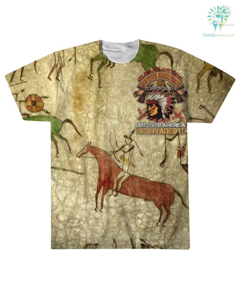 familyloves.com CELEBRATE NATIONAL NATIVE AMERICAN DAY... OVER PRINT T-SHIRT %tag