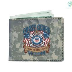 Coast Guard proud to have served veteran Men's Wallet %tag familyloves.com
