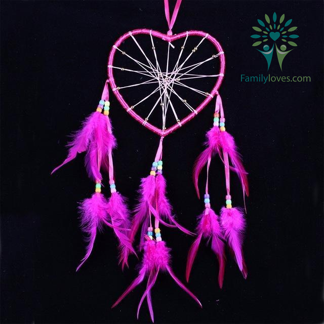 familyloves.com Colorful Heart Dream Catcher Wind native american Default Title %tag