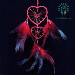 Colorful Heart Dream Catcher Wind native american Default Title %tag familyloves.com