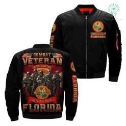Combat veteran freedom isn't free Florida over print jacket %tag familyloves.com