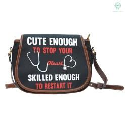 Cute Nurse Saddle Bag %tag familyloves.com