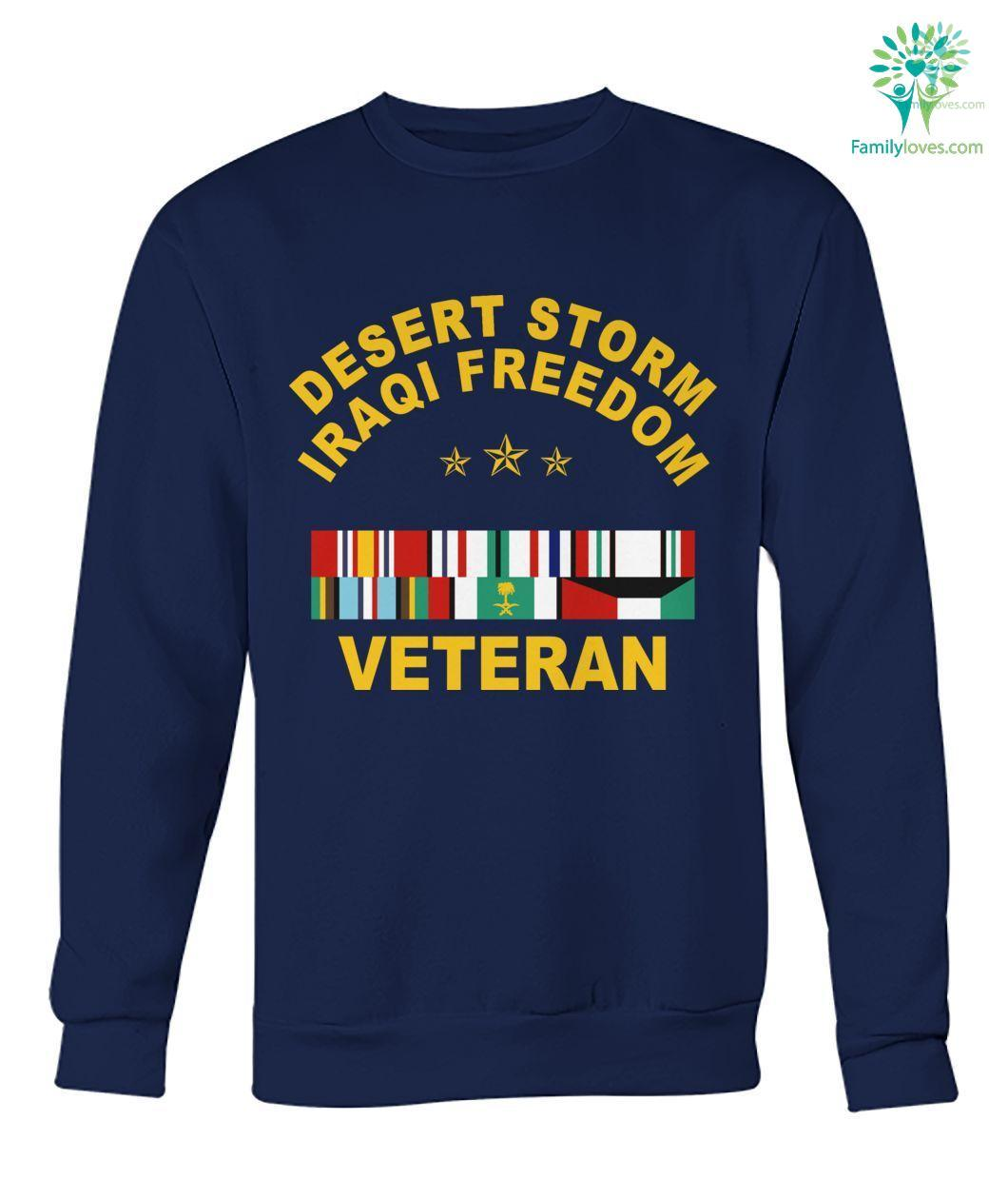 Desert storm iraqi freedom veteran hoodie, sweatshirt, t-shirt %tag familyloves.com