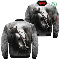 familyloves.com Design 3D Beautiful Horse Art over print jacket %tag