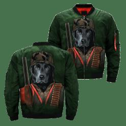 familyloves.com Dog Black Lab over print jacket %tag