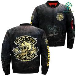 Don't think just ride over print jacket %tag familyloves.com