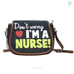 familyloves.com Don't worry i'm a nurse Saddle Bag %tag