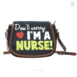 familyloves.com Don't worry i'm a nurse Saddle Bag %tag